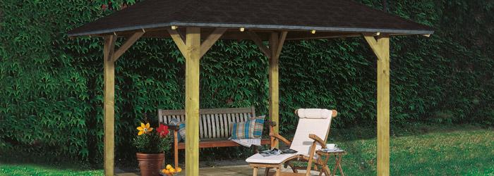Holzpavillon für die Entspannung im Garten